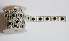 Free Shipping 1 yard Rhinestone Trim, Rhinestone Applique, Bridal Trim,Wedding Applique,Rhinestone Chain LSRT042301