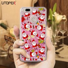 UTOPER Christmas Gift Liquid Case For Xiaomi 5x Case Santa Claus Socks Fundas For Xiaomi Redmi 4x 4a 3s Case For mi 5 s 4 Pro(China)