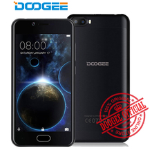 Doogee Shoot 2 Smartphone Dual back camera 5MP 2GB 16GB 5.0 inch HD Android 7.0 MT6580A Quad Core 3360mah fingerprint Cell Phone(China)