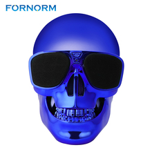 FORNORM Bluetooth Speaker Wireless Skull Subwoofer Sunglass Clear Stereo Portable Plastic Metallic Shape Loudspeaker(China)