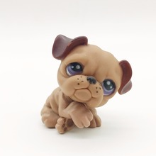 Lazy brown sandy dog Original 1pcs quality cute toys Lovely Pet shop animal action figure littlest doll toys 185(China)