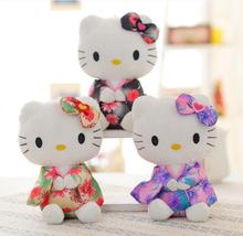 1PC 20cm Creative Stuffed Animal Hello Kitty Kimono KT,Kawaii Doll ,Anime Toy For Girl ,Birthday's Gift Kid Toy
