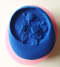 9253 Rose Flowers Silicone Soap Mold Candle Mold Chocolate Mold for DIY Decoration use(China)