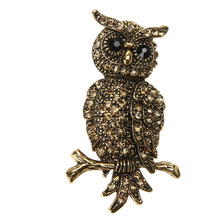Korea Arrival Big Owl Brooches For Wedding Bouquet Vintage Wedding Hijab Scarf Pin Up Buckle femininos Broches Game Bijoux