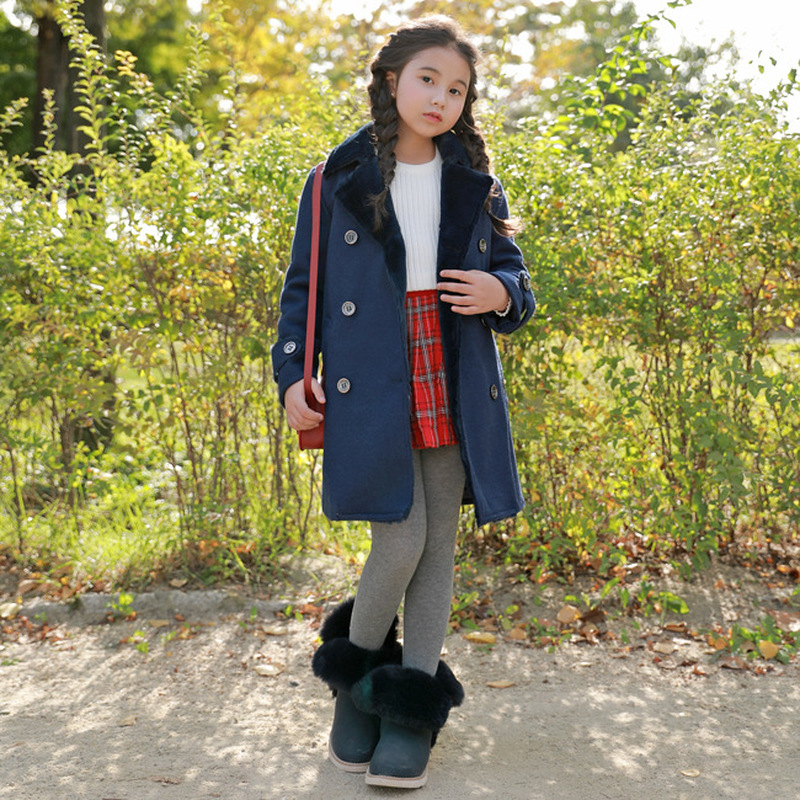 Travel snail 3-8 yrs baby girls winter jacket kids warm coat 2017 New children clothing vetement fille hiver long solid<br>