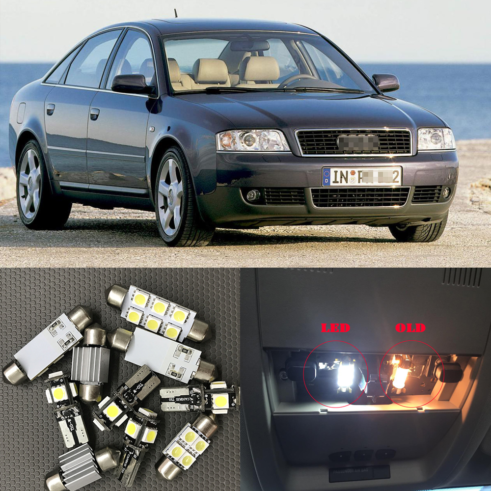 20 PCS LED Lights For 2001-2003 2004 Audi Allroad Kit Interior Package BLUE