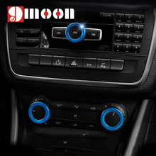 3PCS/Set Air Conditioning volume knob decoration For Mercedes Benz A B C E Class GLK GLA CLA GLE ML GL AMG Auto Parts
