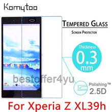 0.3mm 2.5D Explosion Proof Toughened Tempered Glass For Sony Xperia Z Ultra XL39h LCD Film HD Arc Screen Protector Cover Guard