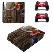 Spider Man  Vinyl Decal PS4 Pro Skin Stickers for Sony PlayStation 4 Pro Console and 2 Controllers Decorative Skins