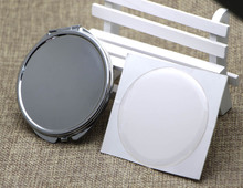 Mirror Compact DIY Kits - Dia.65mm Compact Mirror Blank Pocket Foldable Mirror With Epoxy Sticker 5 pieces/lot