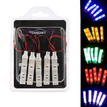 5pcs Waterproof IP65 SMD 5050 3 LED Flexible Strip Light Lamp DC 12V Car Styling LED Strip Lights Red Blue Yellow Green White