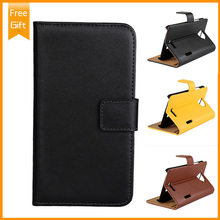 High Quality Genuine Flip Leather Case For HTC One X G23 S720E , Real Leather Cover For S720E Phone Pouch Free Shipping+Gift