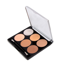 6 Color Concealer Palette Facial Corrective Makeup All Round Contour Highlighter Flawless Make-up Base Corrector
