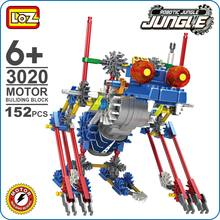 Loz Ideas Motor Building Block Robotic Bat King Robot Jungle Action Model Toys Diy Kids Gift Fun Toy Battery Puzzle Blocks 3020