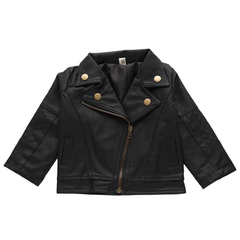 Baby Boys Girls PU Leather Jackets 2017 New Fashion INS Short Leahter Jackets Coats Autumn Winter Children Clothing 2-6Y GC03<br>
