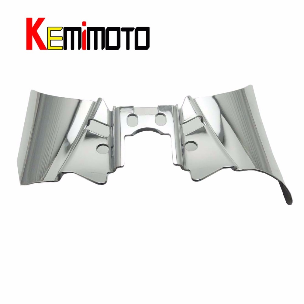 Chrome Saddle Shield Heat Deflector For Harley Dyna FXD FXDWG 1999-2017 2000 01 02 03 04 05 06 07 08 09 2010 2012 2013 2014 2015<br><br>Aliexpress