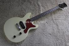 HOT Wholesale Top Quality New Style P90 Pickup gbson double cutaway LP Light yellow Billie Joe electric guitar