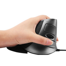 DELUX M618 Wired USB 2.0 1600dpi LED Optical Vertical Mouse Ergonomic Vertical Mouse-Black+Grey
