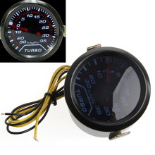 1 set Universal 52mm White Digital LED Turbo Boost Meter Gauge Smoke Tint Lens Psi Car Truck Parts Gauges-D2TB
