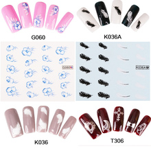 1 Sheet Nail Sticker Cute Flower Pattern Nail Art Water Decals Nail Transfer Stickers Japanese nail stickers watermark decals
