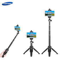 YUNTENG YT-9928 2-in-1 Mini Desktop Tripod Selfie Stick with Phone Holder Remote Controller Max. Load 0.22kg for Smartphones(China)