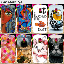 22 Styles Hard Plastic Phone Cover For Motoroal Moto G4 Plus G4 Cases Anti-Knock Wholesale and Retail Vintage Elegant Cover