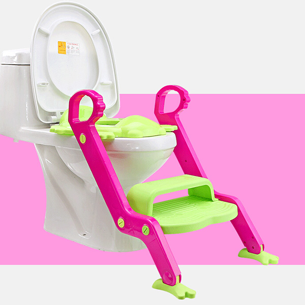 Hot Sale Safety Baby Step Ladder Potty Chair Kids Foldable Toilet Seat Trainer Infant Non-Slip Safety Potty Seat<br>