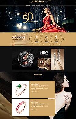 MASS设计★珠宝首饰 欧美大牌 首饰 金色/紫色/褐色 3色CSS3特效