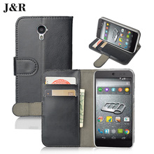 "High Quality J&R Brand Wallet Flip Pu Leather Case For Micromax Canvas Pace 4G Q415 4.5"" Retro Flip Back Cover For Micromax Q415"