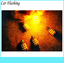 Car Flashing 2Pcs 1156 1157 BA15S P21W S25 Car Led Bulb Light Rear Lamps Turn Signal parking Brake light 36SMD Red White Yellow(China)