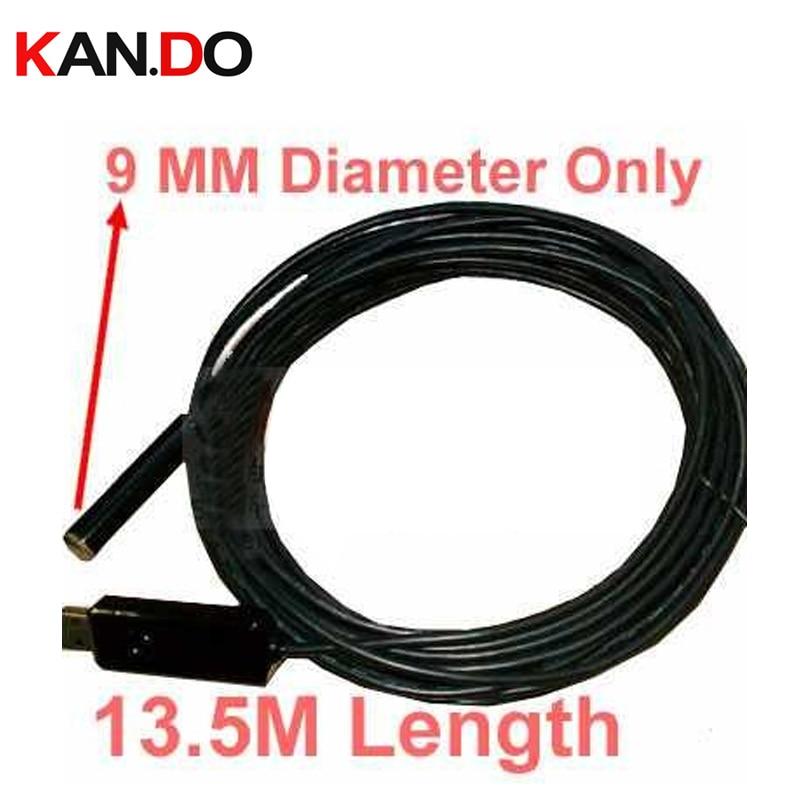 9mm head,15M length,mini Home Endoscope,USB Borescope,USB Tube Snake Scope InspectionCamera,Waterproof,4 LED wired cam<br>