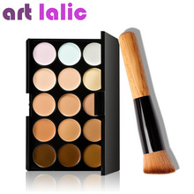 Art lalic Concealer Palette 15 Color With Brush Concealer Facial Face Cream Care Camouflage Makeup base Palettes Cosmetic
