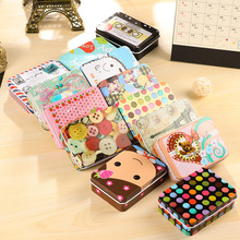 Mini Cute Kawaii Cartoon Tin Metal Box Case Home Storage Organizer For Jewelry Kids Toy Gift Home Supplies 2E