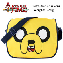 2016 New Cute Cartoon Bag Adventure Time Shoulder Bag For Kids Messenger Bag For School Girls Boys Children Birthday Gifts(China)