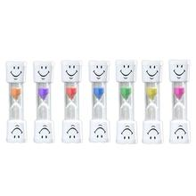 Toothbrush Timer Minute Smiley Sand Timer for Brushing Kid's Teeth Hourglass Sand Timer 2 Minutes 7 Colors Free Shipping(China)