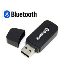 Car USB Bluetooth Adapter Audio Music Receiver Dongle 3.5mm Port Auto AUX Streaming A2DP Kit for Speaker Phone MP3/4