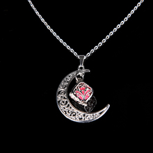new Moon Star Glowing Necklace Alloy Plated Pendant Jewelry
