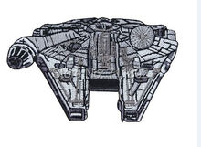 Millennium Falcon iron on patches Badge Star Wars Fan Applique movie jersey embroidery accessoriy(China)