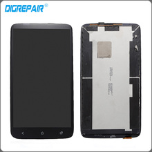 Black For HTC One X AT&T LCD Display Monitor Touch Screen Panel with Digitizer Full Glass Assembly Replacements Parts