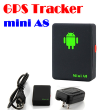 by dhl or ems 100 pieces GPS Tracker Mini A8, Mini Global Real Time 4 bands GSM/GPRS/GPS Tracking Device With SOS Button