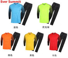 Ever Summit Goalkeeper Soccer Jersey Sets 5 Colors Training kits Porteros ropa Football Shirts Custom Design have Kids size Too(China)