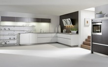 L shape kitchen cabinet,America style house kitchen cabinet design(China)