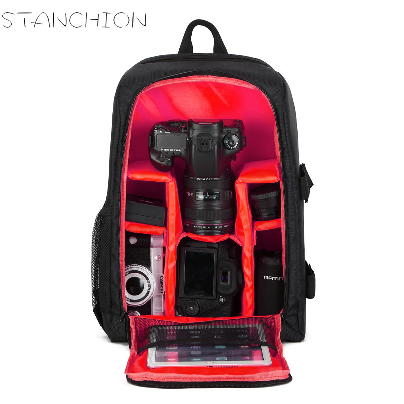 STANCHION SLR Camera Backpack Photography Men and Women Anti - theft Waterproof Computer Bag<br>