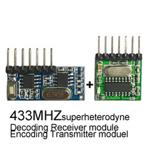 433mhz Wireless wide voltage coding Transmitter and decoding Receiver 4 Channel output module For 433 Mhz Remote controls