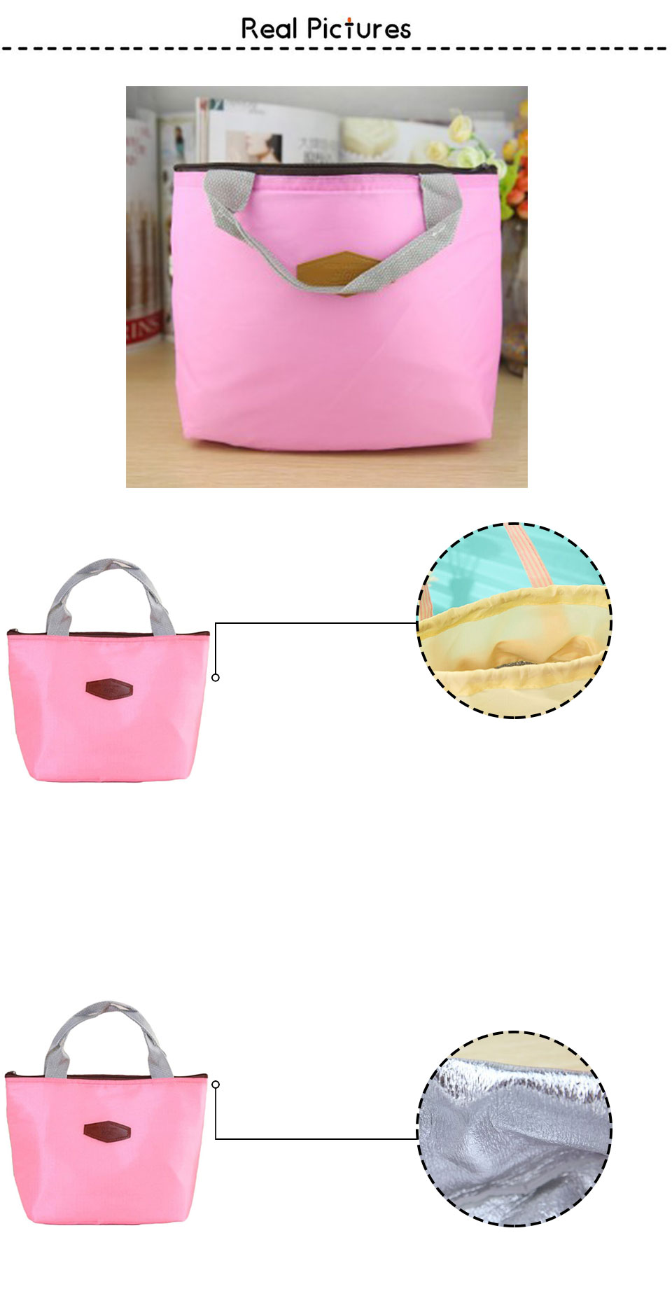 Portable Insulation Package food lunch Thermal Cooler bag