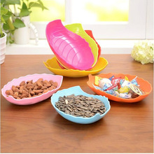 Candy Snacks Dish Tray Leaf Fruit Plate Fruit Dish Blue Green Orange Pink Red Yellow To choose