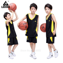 2017 high quality kids basketball jerseys cheap throwback training sets hot sale sporting uniforms suits kits boys blank sets(China)
