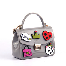 Woman bag New 2017 Brand fashion Handbag shining PU jelly bag Boutique tote candy transparent noble feminina bag Casual Clutch