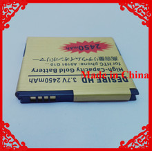 2450mAh Gold Business High Capacity Replacement Battery Batery For HTC G10 Desire HD A9191 Inspire 4G