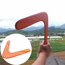 Handmade Wooden Boomerang classic V shape Frisbee Flying Saucer Toys child outdoor toy Children Kids Toys Gifts